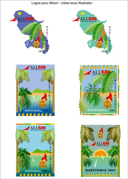 Projets logos Allium Martinique